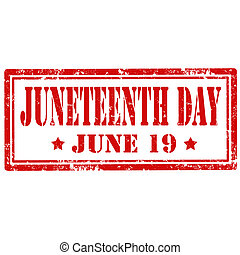 Juneteenth Day-stamp - Grunge rubber stamp with text...