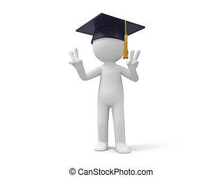 bachelor - A 3d bachelor making a u201CVu201Dgesture