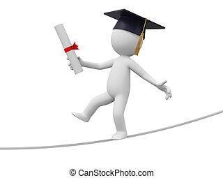 bachelor - A 3d bachelor walking along the rope