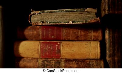 Old books - Ancient books in a bookshelf