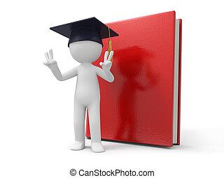 bachelor - A 3d bachelor making a u201CVu201D gesture , a...