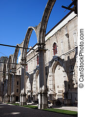 Ruins of Carmo Convent in Lisbon