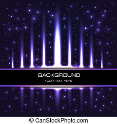 of a starry background with bright shiny halogen stripes -...