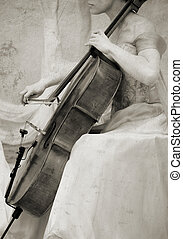 vintage cello - great texture for design and art-work , high...