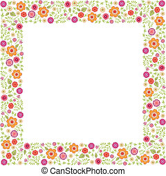 vector floral frame for your text