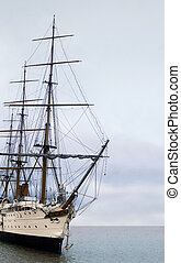 Sailing ship - The vintage sailing ship in the ocean