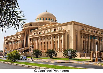 Justice House In Sharjah - SHARJAH, UAE - OCTOBER 29, 2013:...