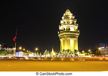 independence monument in phnom penh,Cambodia
