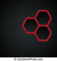 Dark background with hexagons pattern texture, seamless...