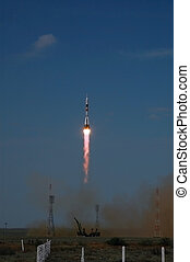 Soyuz TMA-15 Launch from Baikonur Cosmodrome - Russian Soyuz...