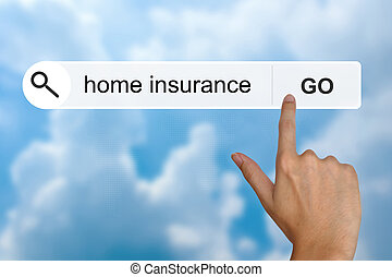 home insurance on search toolbar - home insurance button on...