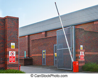 Commercial entrance barrier - Commercial entrance with...