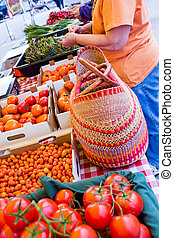 Farmers Market - Fresh produce at the Farmers Market in...
