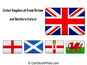 United Kingdom of Great Britain and Northern Ireland - flags...