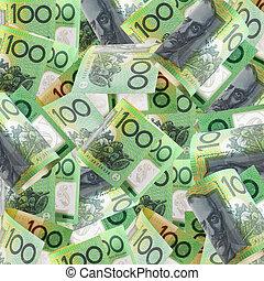 Australian Hundreds - Background of Australian one hundred...