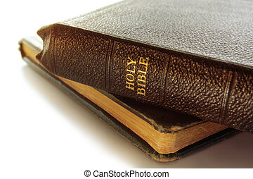 Holy Bible - Old Holy Bible, resting on another vintage book...