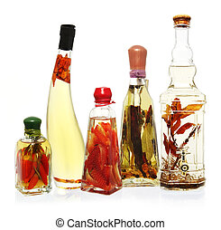 Infused Oils and Vinegars - Fancy bottles of infused oils...