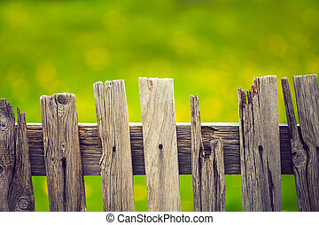 Background of picket fence