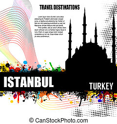 Istanbul grunge poster - Istanbul , vintage travel...