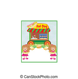hot dogs abstract card