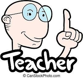 Teacher man - Creative design of teacher man