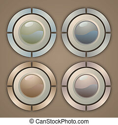 Elegance button - Creative design of elegance buttons