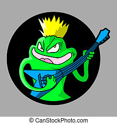 Frog guitar - Creative design of frog guitar