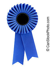 Rosette - Blue rosette, isolated on white Ready for your...