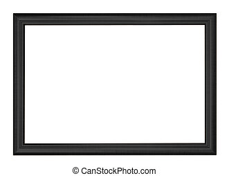 picture frame - Black picture frame isolated on white...