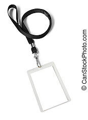 Security ID Pass - Security ID pass on a black lanyard...