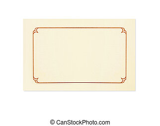Blank Card - Blank card, isolated on white. Could be a place...