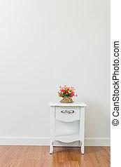 Flower on bedside table