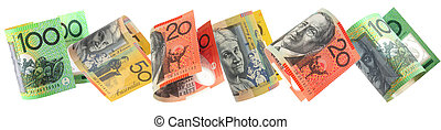 Aussie Money Border - Border of Australian money, isolated...