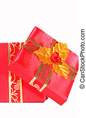Red Gift Box - Red gift box ready for a special occasion