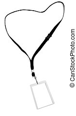 Security Tag - Blank security identification pass on a...