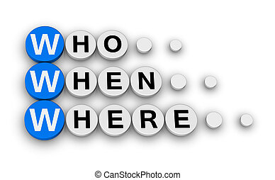 www - who, when,where