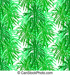 Seamless pattern with tropical palm leaves - Vector seamless...