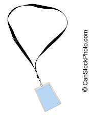 Security Tag - Blank security tag or identification pass, on...