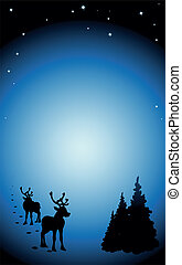 vector dark winter background