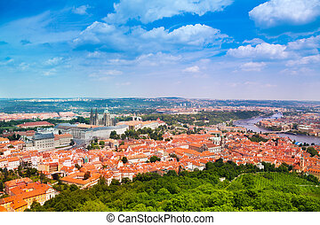 View from Petrin Tower on Prague - Impressive view from...