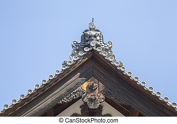 Japanese Castle Roof - A roof of Nijo Castle, KYOTO, Japana
