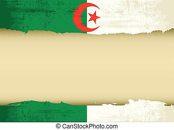 Algerian scrathed flag - An algerian flag with a large frame...