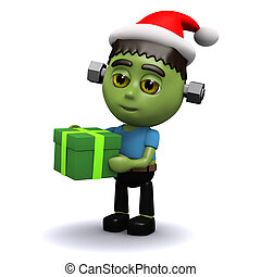 3d Frankenstein Christmas - 3d render of Frankenstein...