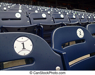 Rain Delay - Empty seats during a rain delay in Washington...