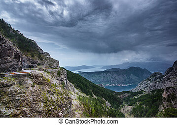 Road above Boka Kotor Bay Montenegro - Road in Mountains...