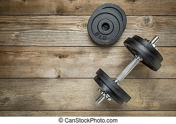 iron dumbbell - exercise weights - iron dumbbell with extra...