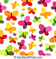 Butterfly Seamless Pattern Background Vector Illustration...