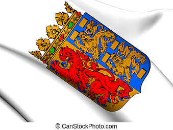 North Holland Coat of Arms, Netherlands. Close Up.