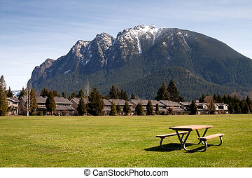 Greenbelt Picnic Table Subdivision Homes Mount Si North Bend...