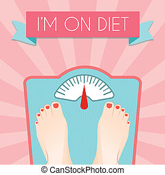 Healthy diet weight poster